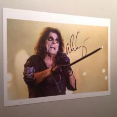 ALICE COOPER ROCK N ROLL LIVE SIGNED HOT! 8X10 PHOTO AUTOGRAPHED IP! COA j