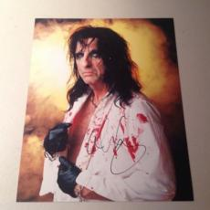 ALICE COOPER ROCK N ROLL LIVE SIGNED HOT! 8X10 PHOTO AUTOGRAPHED IP! COA l