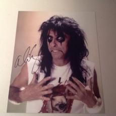ALICE COOPER ROCK N ROLL LIVE SIGNED HOT! 8X10 PHOTO AUTOGRAPHED IP! COA n