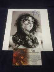 Alice Cooper Rock Singer School's Out Signed Autograph 11x12 Book Photo COA