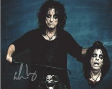 "ALICE COOPER - ROCK SINGER/SONGWRITER/MUSICIAN - Hits Include ""I'M EIGHTEEN"" and ""SCHOOL'S OUT"" Signed 10x8 Color Photo"