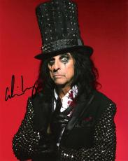 "ALICE COOPER - ROCK SINGER/SONGWRITER/MUSICIAN - Hits Include ""I'M EIGHTEEN"" and ""SCHOOL'S OUT"" Signed 8x10 Color Photo"
