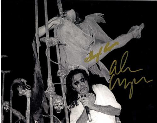 Alice Cooper Sheryl Goddard Autographed Signed 11x14 Photo UACC RD COA AFTAL