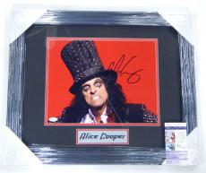 Alice Cooper Signed 11 x 14 Color Photo Framed Matted JSA Auto