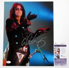 Alice Cooper Signed 11x14 Color Photo Pose #2 w/ JSA AUTO