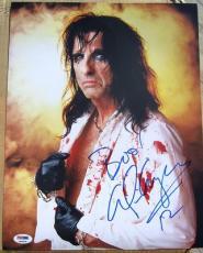 Alice Cooper signed 11x14 photo Boo! Inscription PSA/DNA autograph