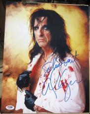 Alice Cooper signed 11x14 photo School's Out Inscription PSA/DNA autograph