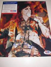 Alice Cooper signed 8x10 autograph photo PSA K00744