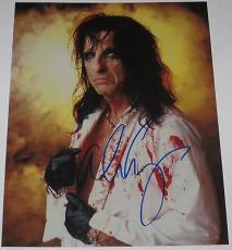 Alice Cooper Signed 8x10 Photo Authentic Autograph Rock Star Schools Out Coa C