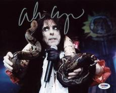 Alice Cooper Signed 8x10 Photo Autographed Psa/dna #s80671