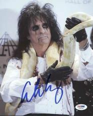 Alice Cooper Signed 8X10 Photo Autographed PSA/DNA #X35740