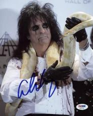 Alice Cooper Signed 8x10 Photo Autographed Psa/dna #x35741
