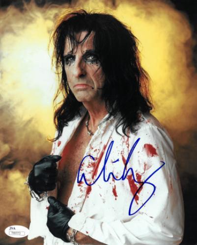 Alice Cooper signed 8x10 Photo- JSA Hologram #T40773 (Shock Rock n Roll-vertical)