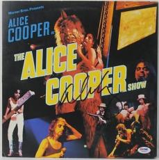 Alice Cooper Signed Album Cover Autographed Psa/dna #w46853