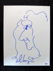 Alice Cooper Signed Auto Autograph 11x14 Self Portrait On Canvas PSA/DNA AB42...