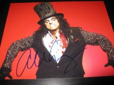 ALICE COOPER SIGNED AUTOGRAPH 8x10 PHOTO SCHOOLS OUT FOR SUMMER PROMO COA AUTO D