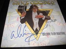 Alice Cooper Signed Autograph Album Vinyl Welcome To My Nightmare In Person D