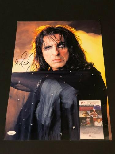 Alice Cooper Rock Singer School's Out Signed Autograph Large 13x19 Photo JSA COA