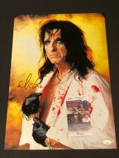 Alice Cooper School's Out Rock Singer Signed Autograph Large 13x19 Photo COA