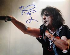 ALICE COOPER SIGNED AUTOGRAPHED 11x14 PHOTO GODFATHER OF SHOCK ROCK PSA/DNA