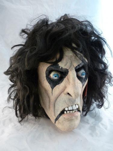 ALICE COOPER Signed Autographed Full Sized Halloween Mask BAS Certified