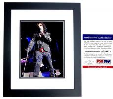 Alice Cooper Signed - Autographed Heavy Metal Singer 8x10 inch Photo with PSA/DNA Authenticity BLACK CUSTOM FRAME - The Godfather of Shock Rock