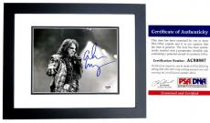 Alice Cooper Signed - Autographed Heavy Metal Singer 8x10 inch Photo with PSA/DNA Certificate of Authenticity (COA) BLACK CUSTOM FRAME - The Godfather of Shock Rock