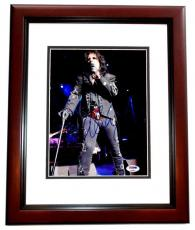 Alice Cooper Signed - Autographed Heavy Metal Singer 8x10 inch Photo with PSA/DNA Authenticity MAHOGANY CUSTOM FRAME