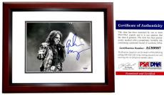 Alice Cooper Signed - Autographed Heavy Metal Singer 8x10 inch Photo with PSA/DNA Authenticity MAHOGANY CUSTOM FRAME - The Godfather of Shock Rock