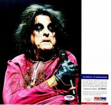 Alice Cooper Signed - Autographed Heavy Metal Singer 8x10 Photo with PSA/DNA Authenticity