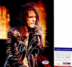 Alice Cooper Signed - Autographed Heavy Metal Singer 8x10 Photo with PSA/DNA Authenticity - The Godfather of Shock Rock