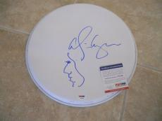 """Alice Cooper Signed Autographed PSA Certified 13"""" Drumhead W/ Hand Drawn Sketch"""