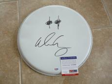 """Alice Cooper Signed Autographed PSA Certified 13"""" Drumhead  W/ RARE Eye's Sketch"""