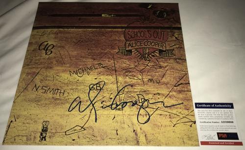 Alice Cooper Signed   Autographed Schools Out Album   LP - PSA DNA Certified