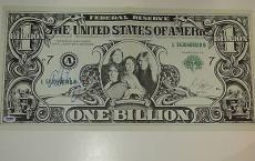 ALICE COOPER Signed BILLION DOLLAR BABY BILL ALBUM Insert w/ PSA DNA