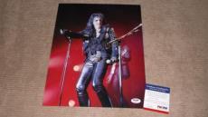 Alice Cooper Signed Concert 11x14 Photo Autographed Psa/dna Cert Proof!!