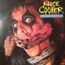 """ALICE COOPER signed """"Constrictor"""" album -JSA #L40290"""