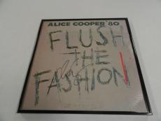 "Alice Cooper Signed Framed ""flush The Fashion"" Album Alice N Chains"