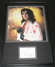 Alice Cooper Signed Framed 12x18 Photo Display