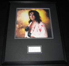Alice Cooper Signed Framed 16x20 Photo Display JSA