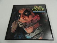 "Alice Cooper Signed Framed ""constrictor"" Album Lp Alice N Chains"