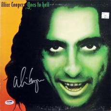 Alice Cooper Signed Goes To Hell Album Cover W/ Vinyl PSA Itp #7A26918