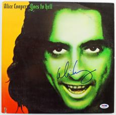 """Alice Cooper Signed """"Goes To Hell"""" Album Cover W/ Vinyl PSA/DNA #S38073"""
