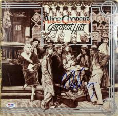 Alice Cooper Signed Greatest Hits Album Cover W/ Vinyl PSA/DNA ITP #7A26906