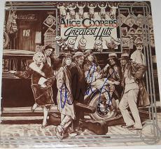 ALICE COOPER Signed Greatest Hits ALBUM LP w/ Coa
