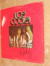 Alice Cooper Signed *in-person* Lp Album Cover W/record Easy Action Proof!!