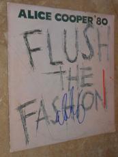 Alice Cooper Signed *in-person* Lp Album Cover W/record Flush The Fashon Proof!!