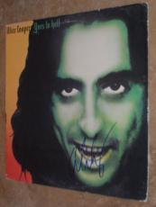 Alice Cooper Signed *in-person* Lp Album Cover W/record Goes To Hell Proof!!