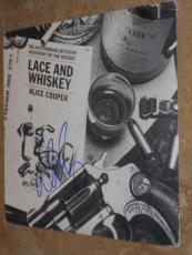 Alice Cooper Signed *in-person* Lp Album Cover W/record Lace And Whiskey Proof!!