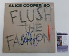 Alice Cooper Signed LP Record Album Flush The Fashion w/ JSA AUTO